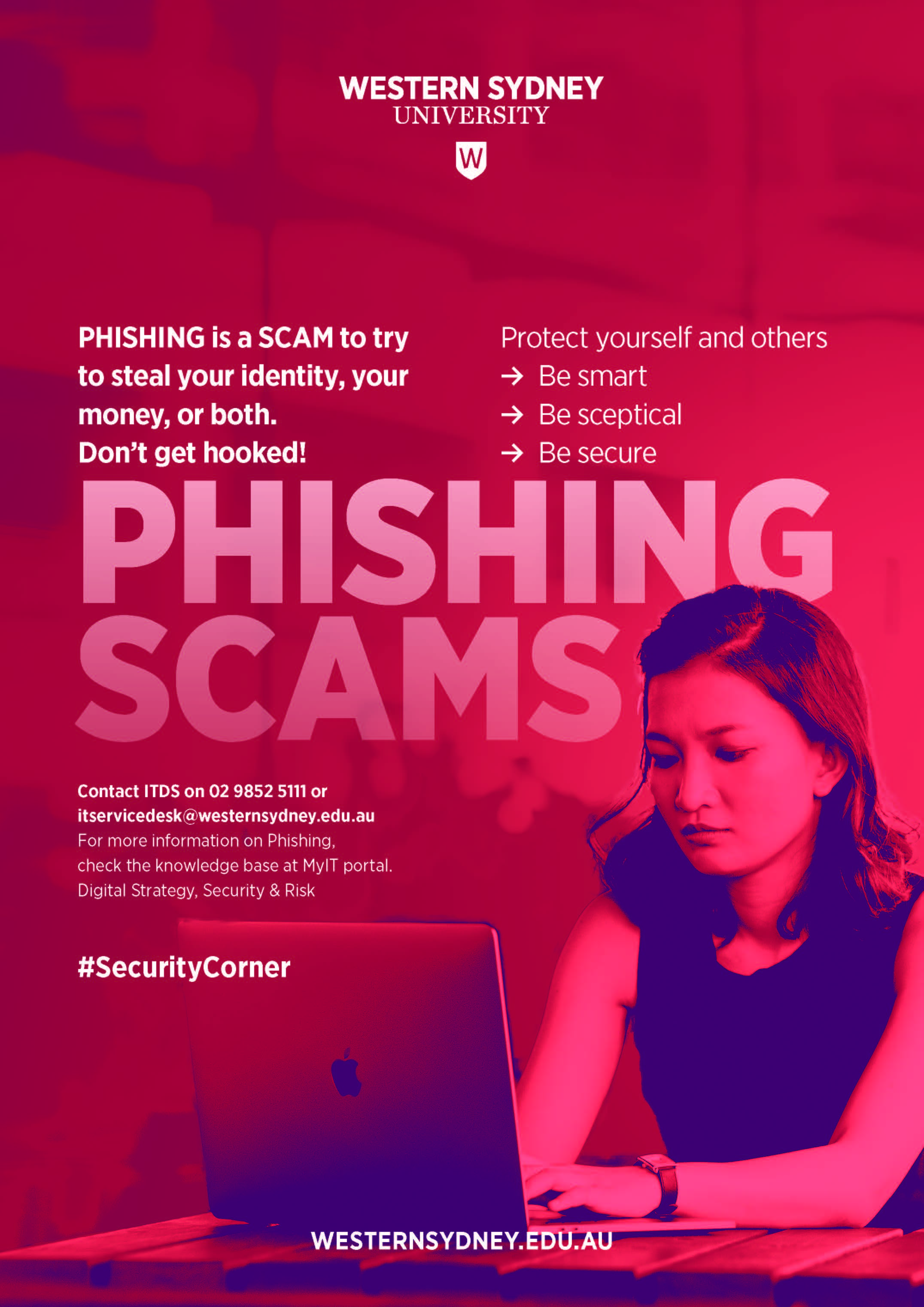 Phishing Scams awareness - A3 poster