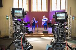 Video cameras facing students