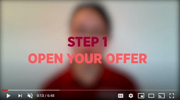 Accept offer video 2