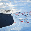 Thumbnail image looking down on buildings in Antarctica.