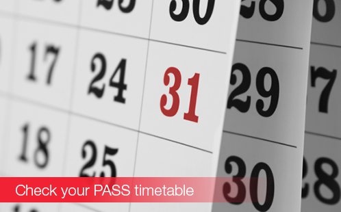 Check your PASS timetable