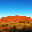 Afternoon shot of the famous Uluru rock in Northern Territory, Australia.