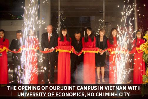 UEH opening, Vietnam